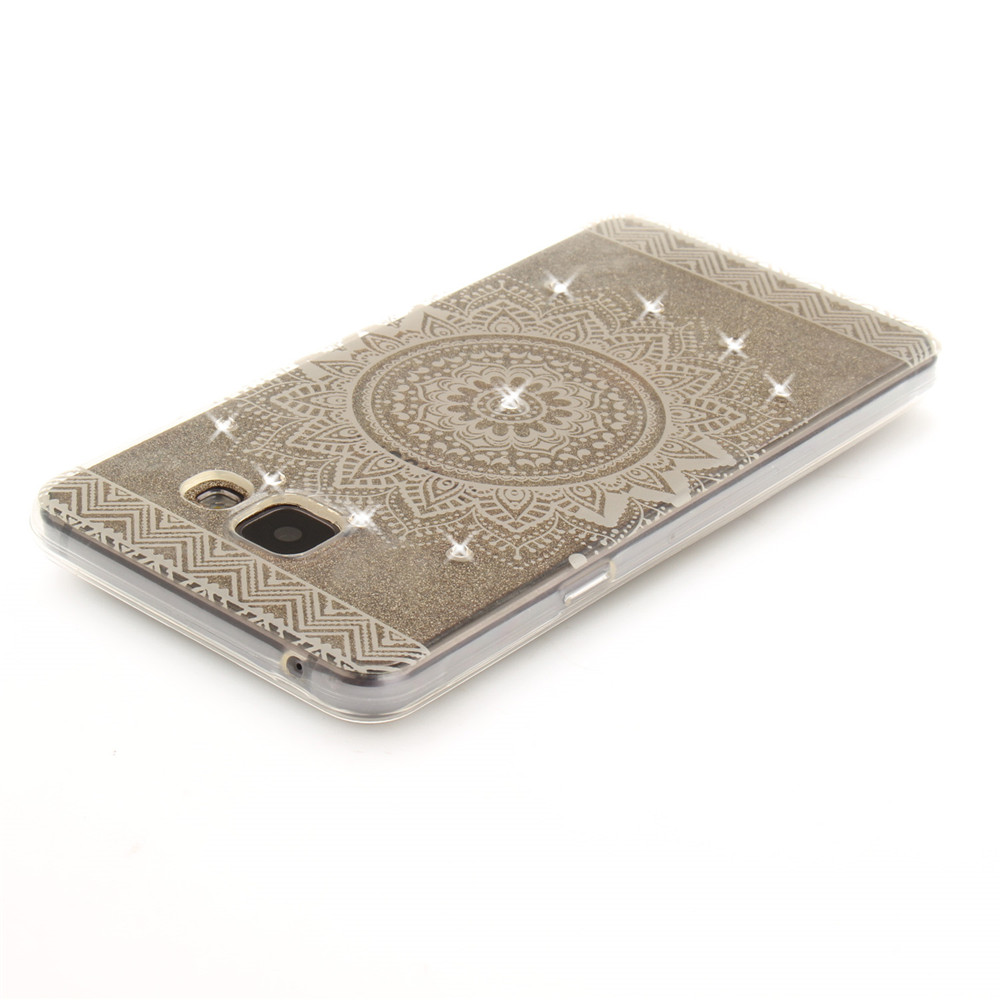 The White Mandala Diamond Soft Clear IMD TPU Phone Casing Mobile Smartphone Cover Shell Case for Samsung A5 2016 A510