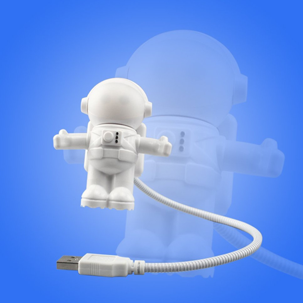 Creative Spaceman Astronaut LED Flexible USB Light for Laptop PC Notebook- White