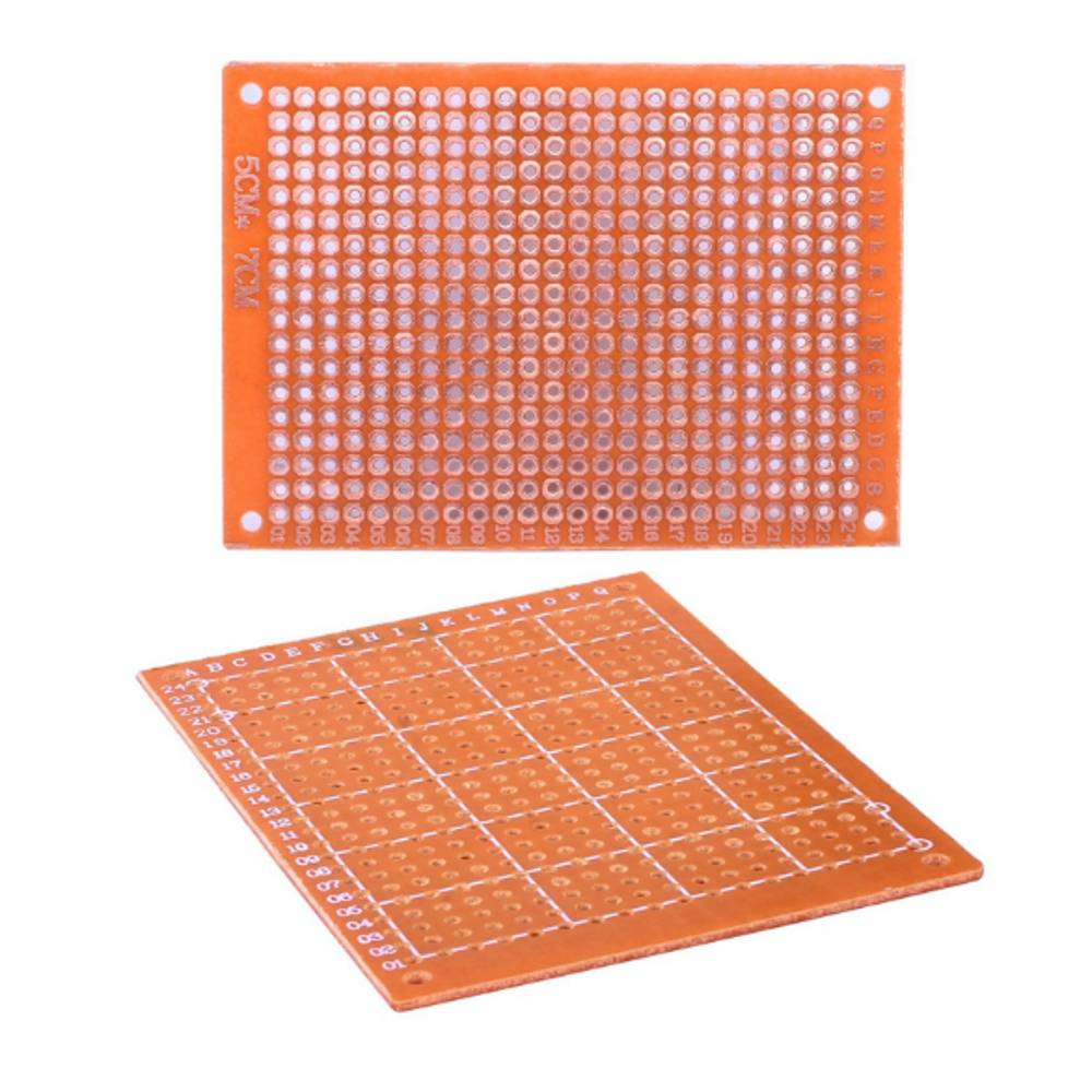 10 Piece Single Sided Pcb Printed Circuit Board Prototype Breadboard Details About 12 Pcs Kit Prototyping 5cm X 7cm Golden