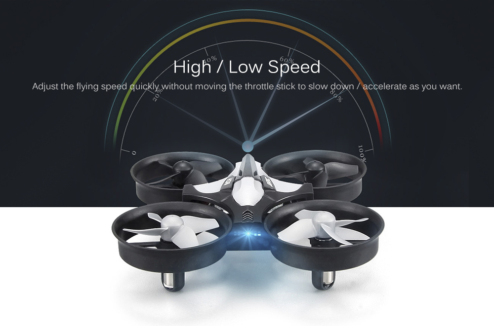JJRC H36 Mini 2.4GHz 4CH 6 Axis Gyro RC Quadcopter with Headless Mode / Speed Switch- Blue Standard Version