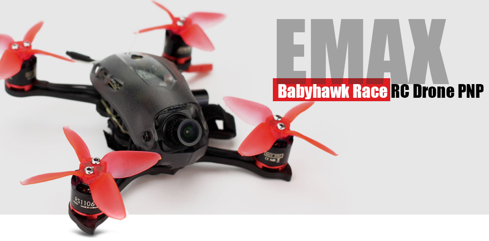 EMAX Babyhawk Race RC Drone PNP 600TVL CCD Camera / Magnum Tower OSD / 6000KV Motor