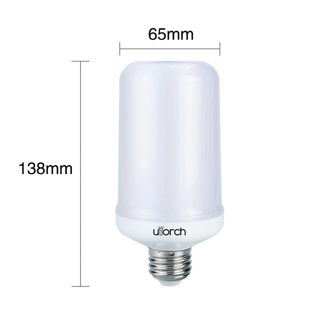 Utorch E27/E26 3528 SMD LED Flame Effect Fire Light Bulbs Flickering AC 85 - 265 V