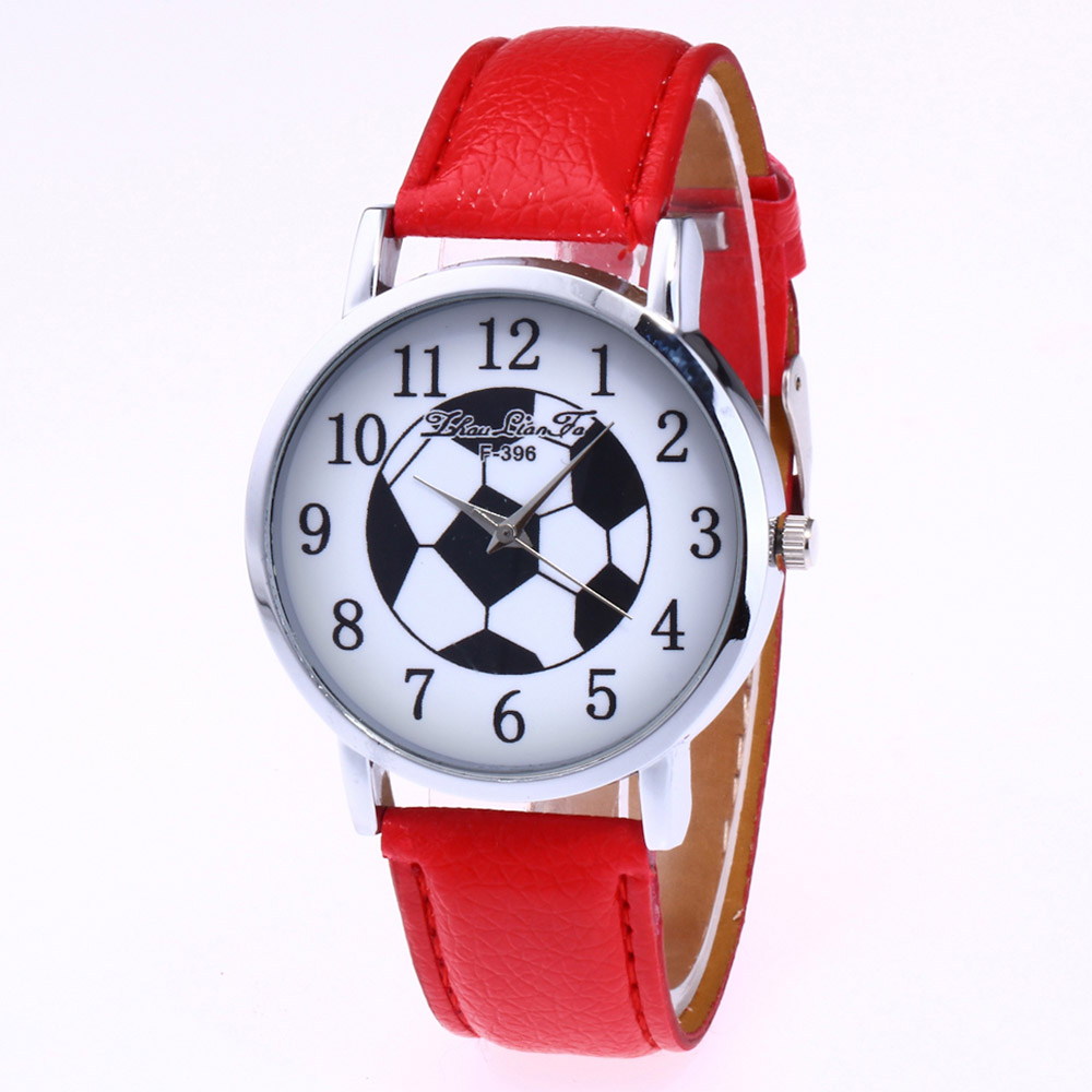 ZhouLianFa New Trend Silver Dial Lycra Pattern Leather Football Map Quartz Watch with Gift Box