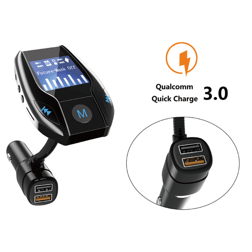 Spdecrd Bluetooth Car Radio Transmitter Hands-Free Stereo Kit Wireless  Audio Receiver Adapter 1 44 Inch