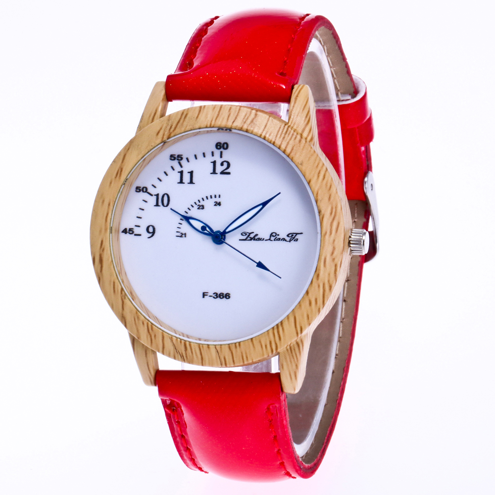 ZhouLianFa New Fashion Crystal Grain Leather Strap Women'S Luxury Goods Business Quartz Watch