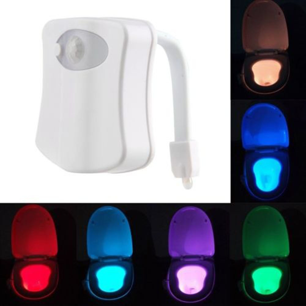 Peachy Colorful Motion Sensor Toilet Nightlight Home Toliet Bathroom Human Body Auto Motion Activated Sensor Seat Light Night Beutiful Home Inspiration Xortanetmahrainfo