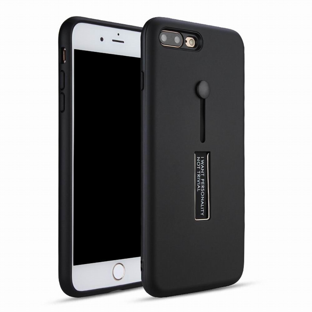 Luxury Shockproof Case for iPhone 7 Plus/8 Plus Case Metal Ring Stent Function Phone Cover