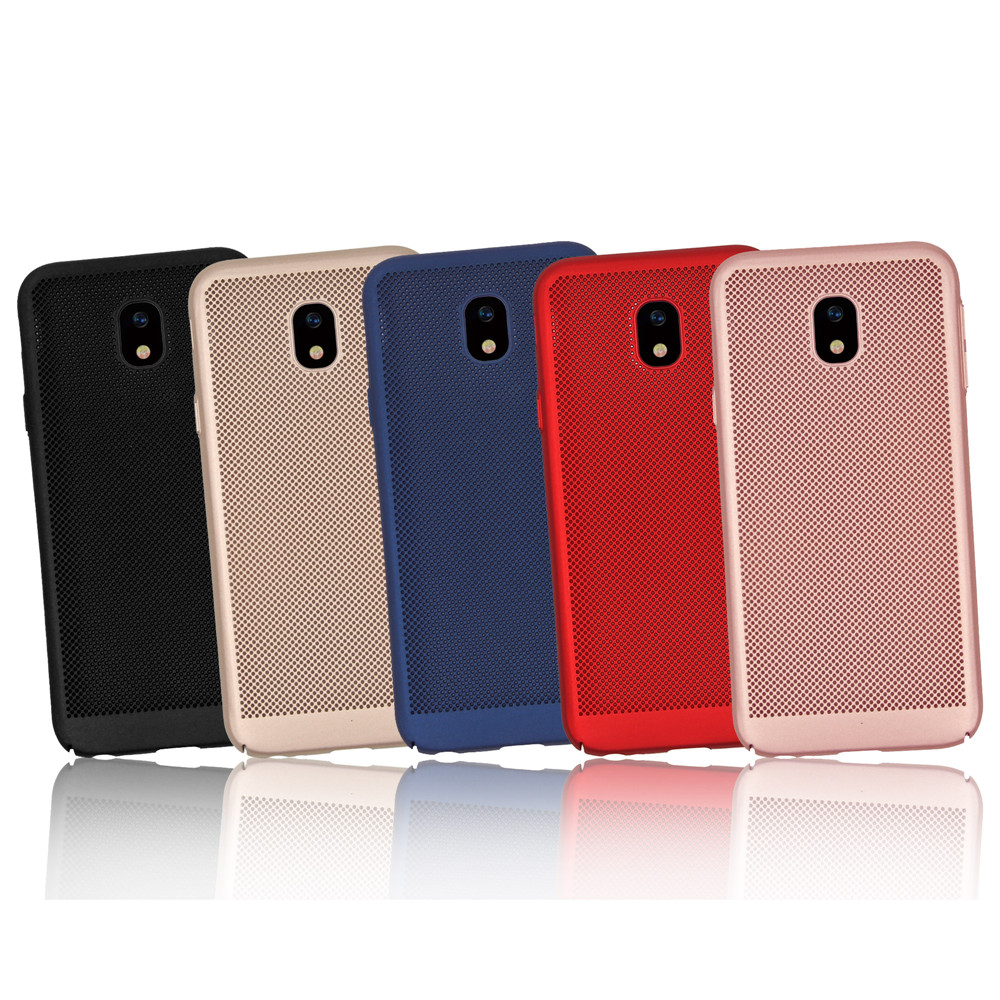 Heat Dissipation Ultra Thin Frosted Back Cover Solid Color Hard Pc Tempered Glass Full Samsung Galaxy J3 Pro Case For