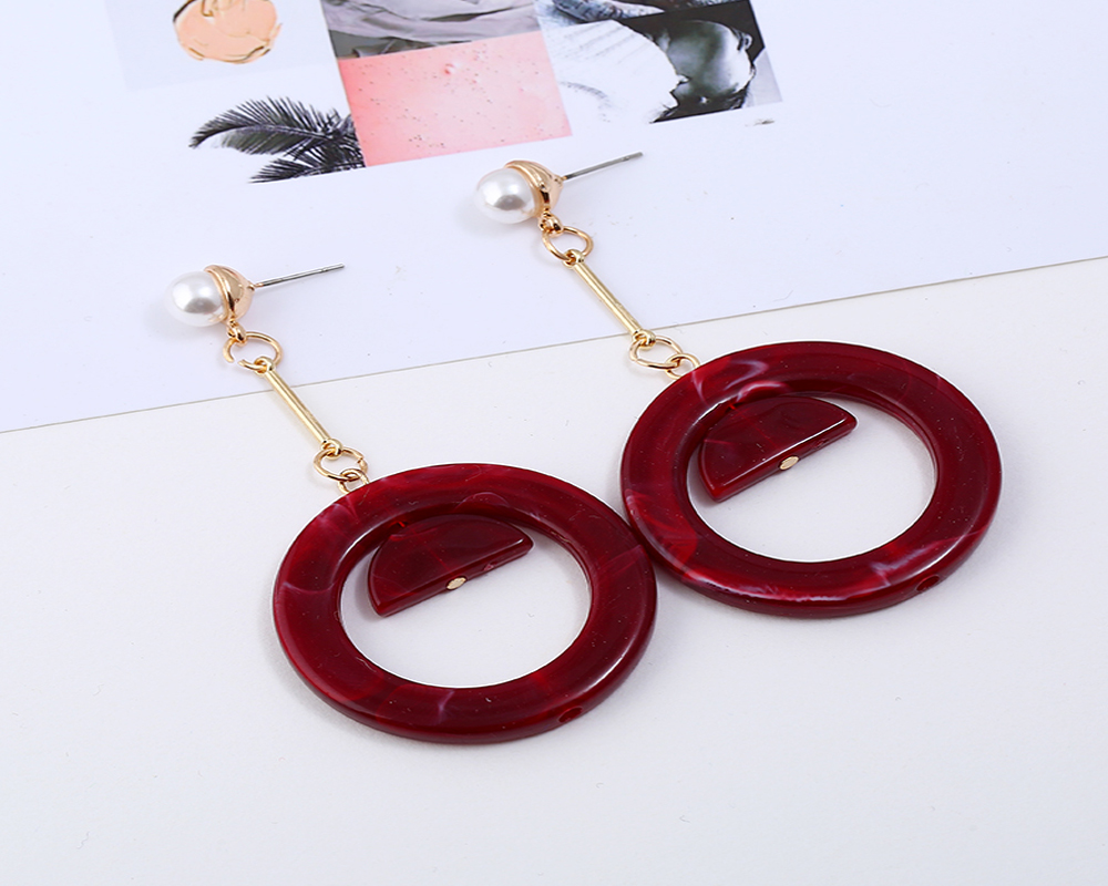 Fashion Ethnic Party Style Semicircle Tassels Earrings For Women