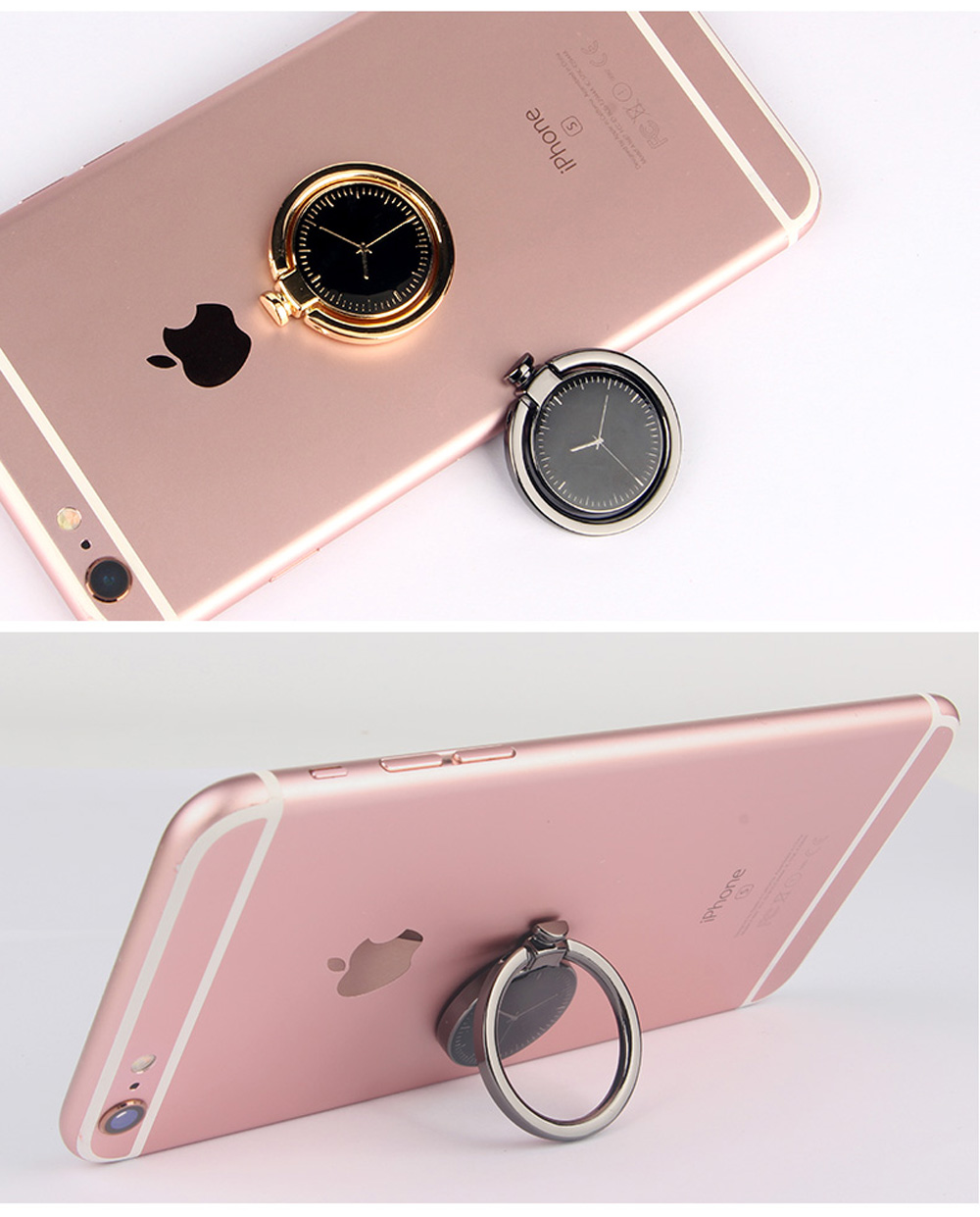 Clock Decorated Tablet Mobile Phone Finger Ring Holder Watch Stand ...