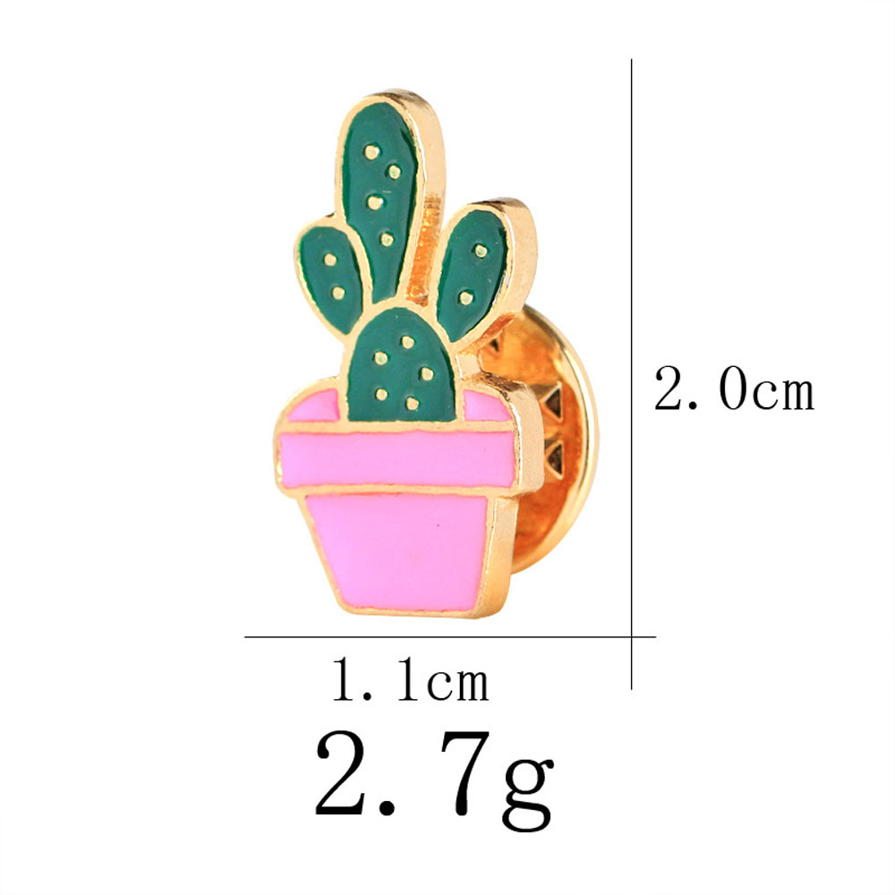 The new creative suit cactus potting drip brooch brooch plants