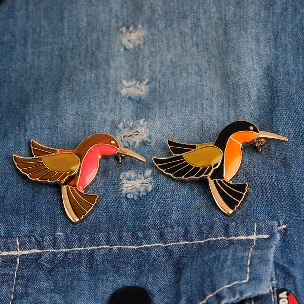 New Fashion Personality Colored Glaze Female Bird Brooch Pin Sell Like Hot Cakes