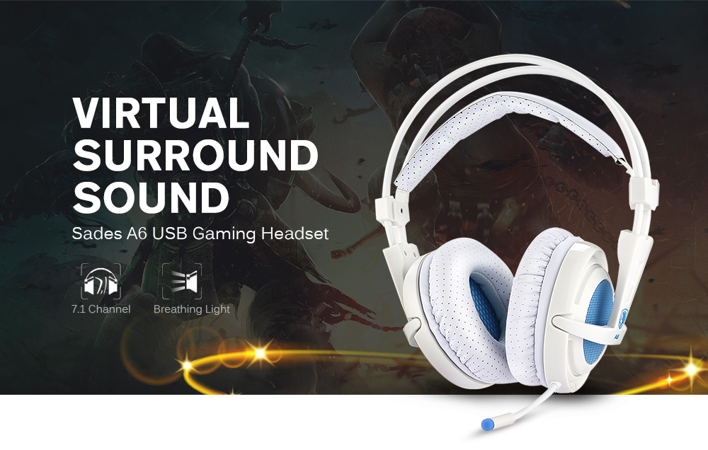 Sades A6 7 1 Virtual Surround Sound Pc Usb Gaming Headset Sale Price Reviews Gearbest