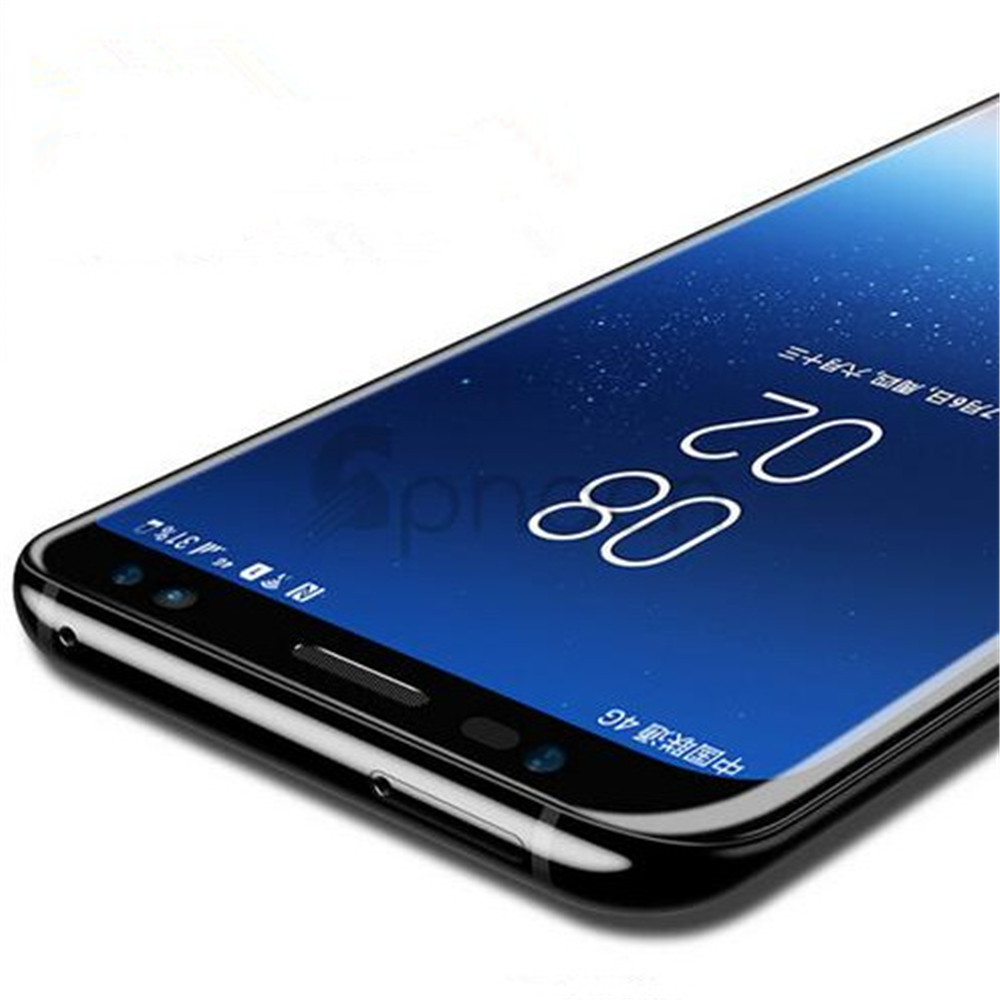 High Definition 3D Curved Full Cover Tempered Glass Protective Film for Samsung Galaxy S8 Plus