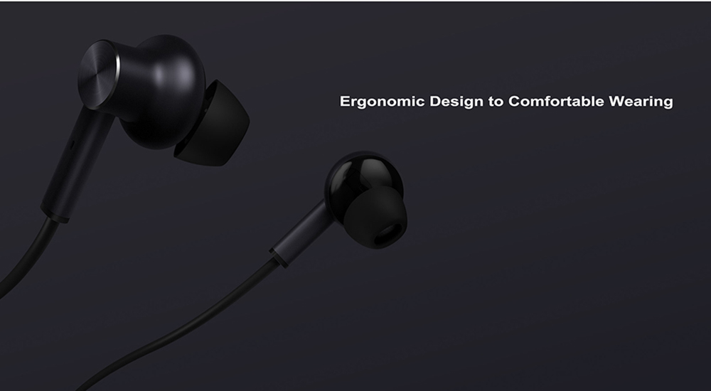 Xiaomi 3.5 Noise Reduction Hybrid In-ear Earphone with Remote and Mic- Black