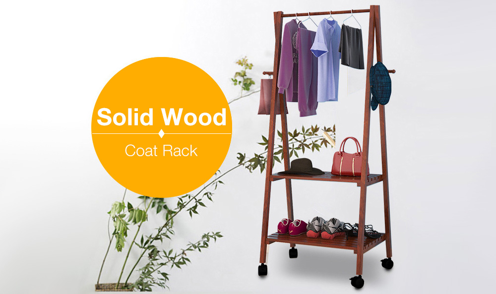 Fashion Solid Wood Clothes Hanger Storage Rack
