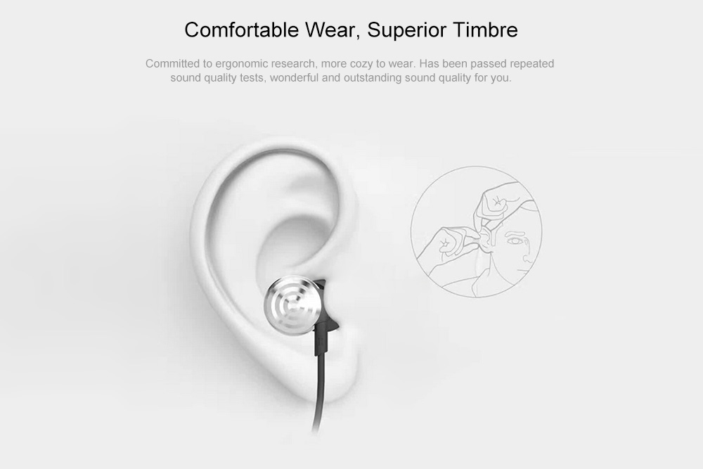 UIISII Hi - 905 Balanced Armature Wired In-ear Earphones with Mic- Silver