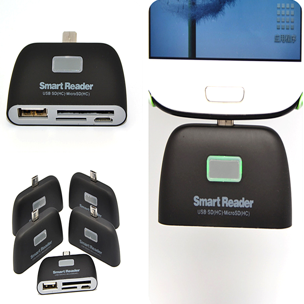 Android Phone Multi-Function OTG Card Reader (MicroUSB Universal Interface)