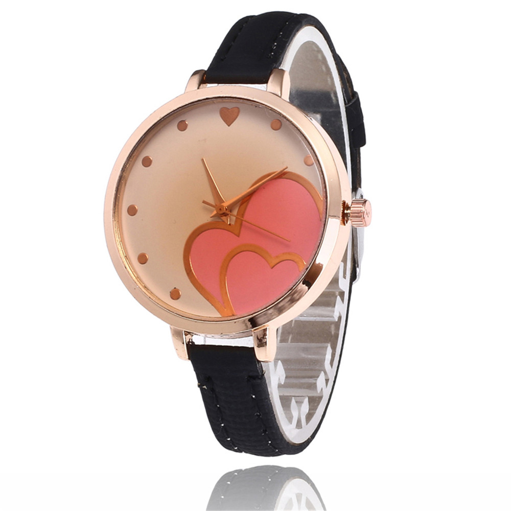 35ecc6ba0d64 New Rose Gold Dial Fashion Trend Silver Surface Lychee Pattern ...