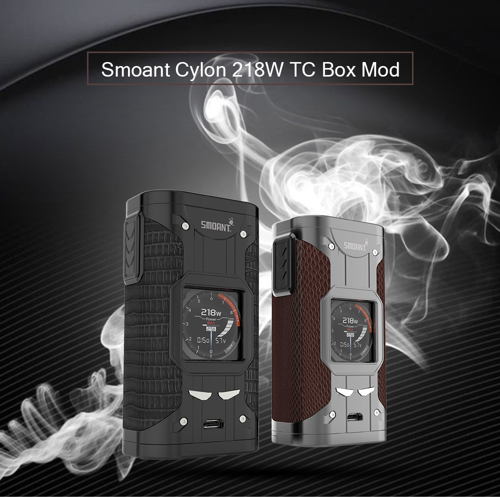 Smoant Cylon 218W TC Box Mod for E Cigarette Review 2018 And Coupon Code