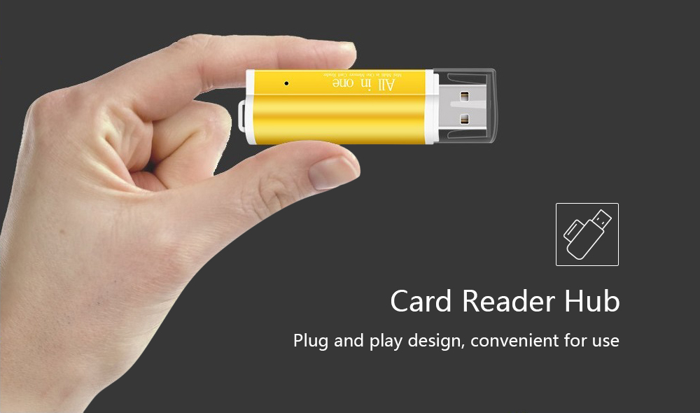 4 in 1 USB 2.0 Card Reader with TF / SD Card Slot