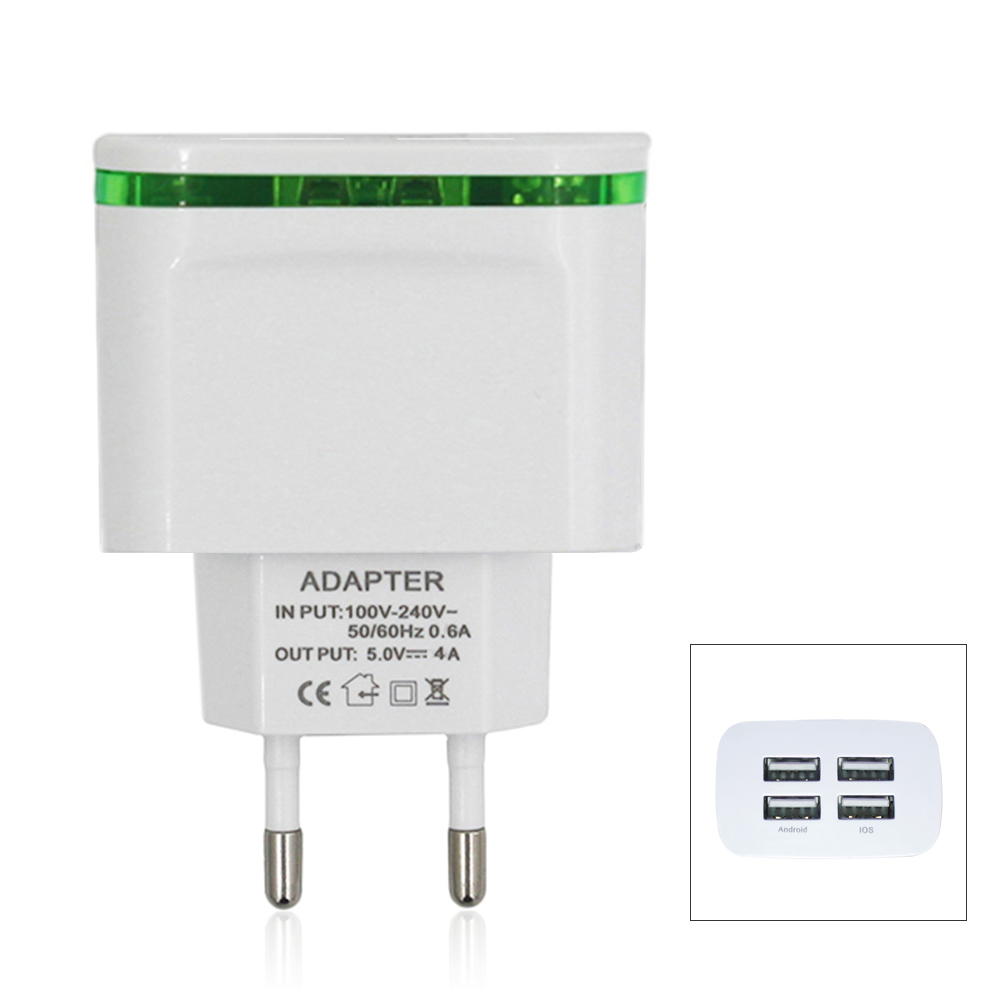 Universal 5v 4a Eu Plug 4 Usb Ports Wall Power Supply Adapter Schematic Charger White
