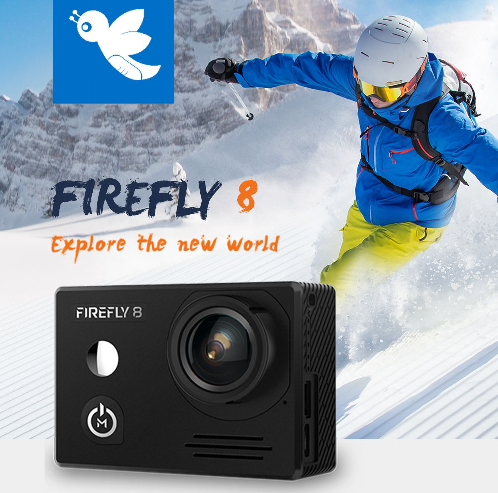 Hawkeye FIREFLY 8 2160P HDR WiFi Gyro Image Stabilization Action Camera with 2 inch IPS Screen