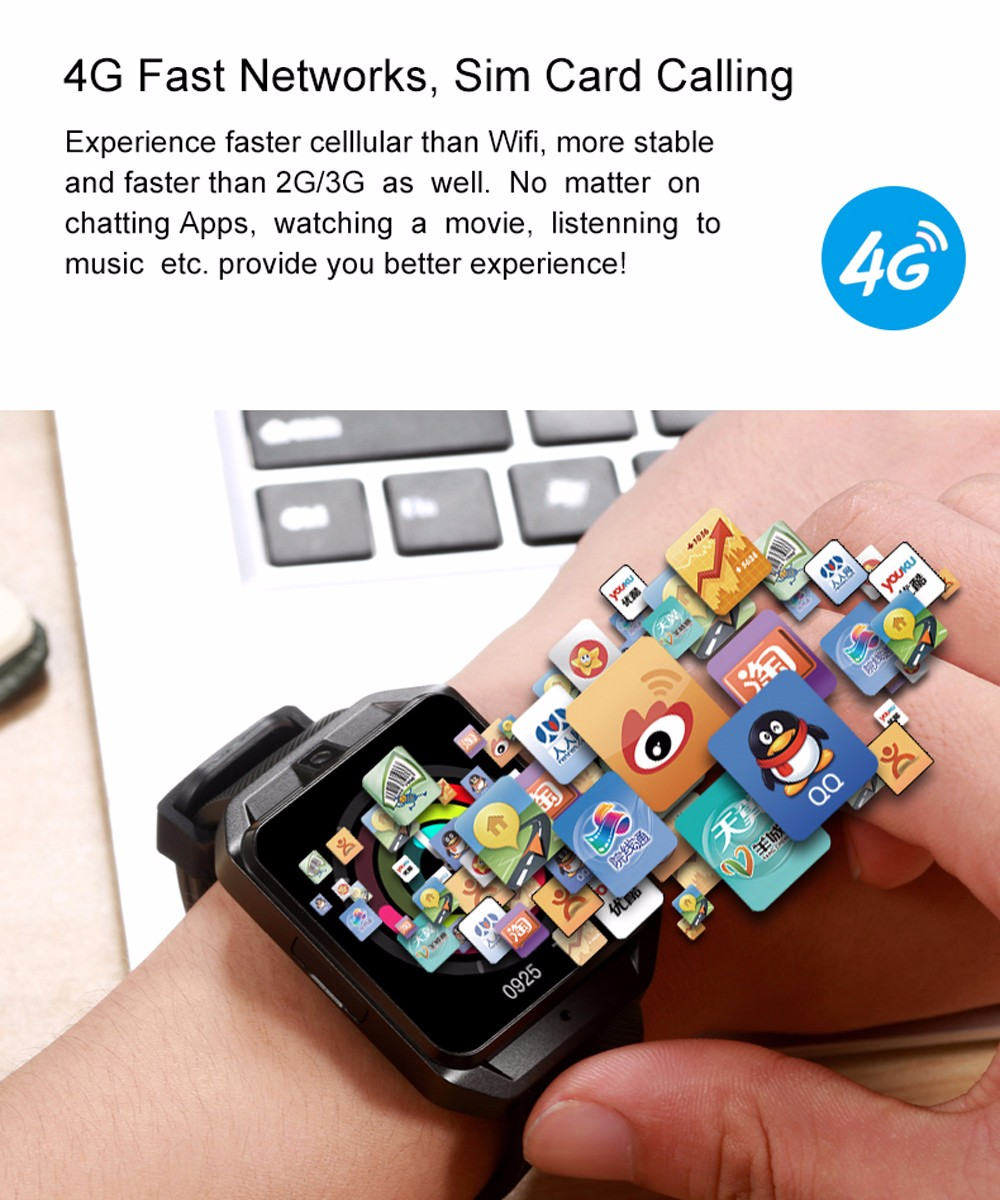 Details about Microwear H5 4G Smartwatch Phone 1+8GB BT4 0 Heart Rate  Monitor GPS Android 6 0