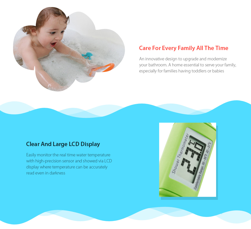 Digital Shower Head Water Thermometer Monitor For Baby Care ...