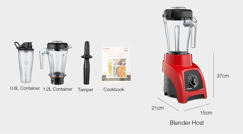 Vitamix S55 Personal Blender Multifunctional Cooking Tool- Black