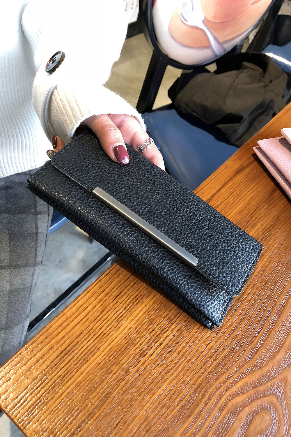 New Ladies Long Wallet 2018 New Pu Leather Double Multi-Card Bit Wallet