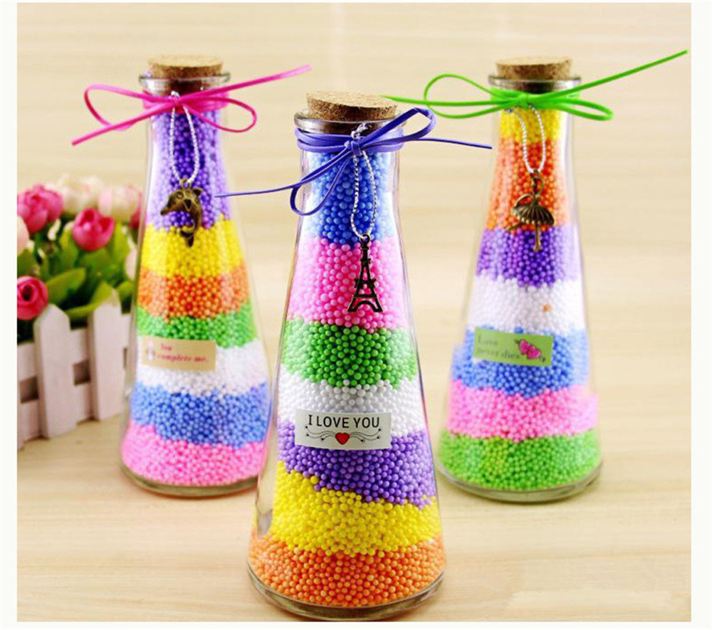 Colorful Craft Foam Balls Polystyrene Beads for DIY Party Decoration Kid's Creative Craft- colour