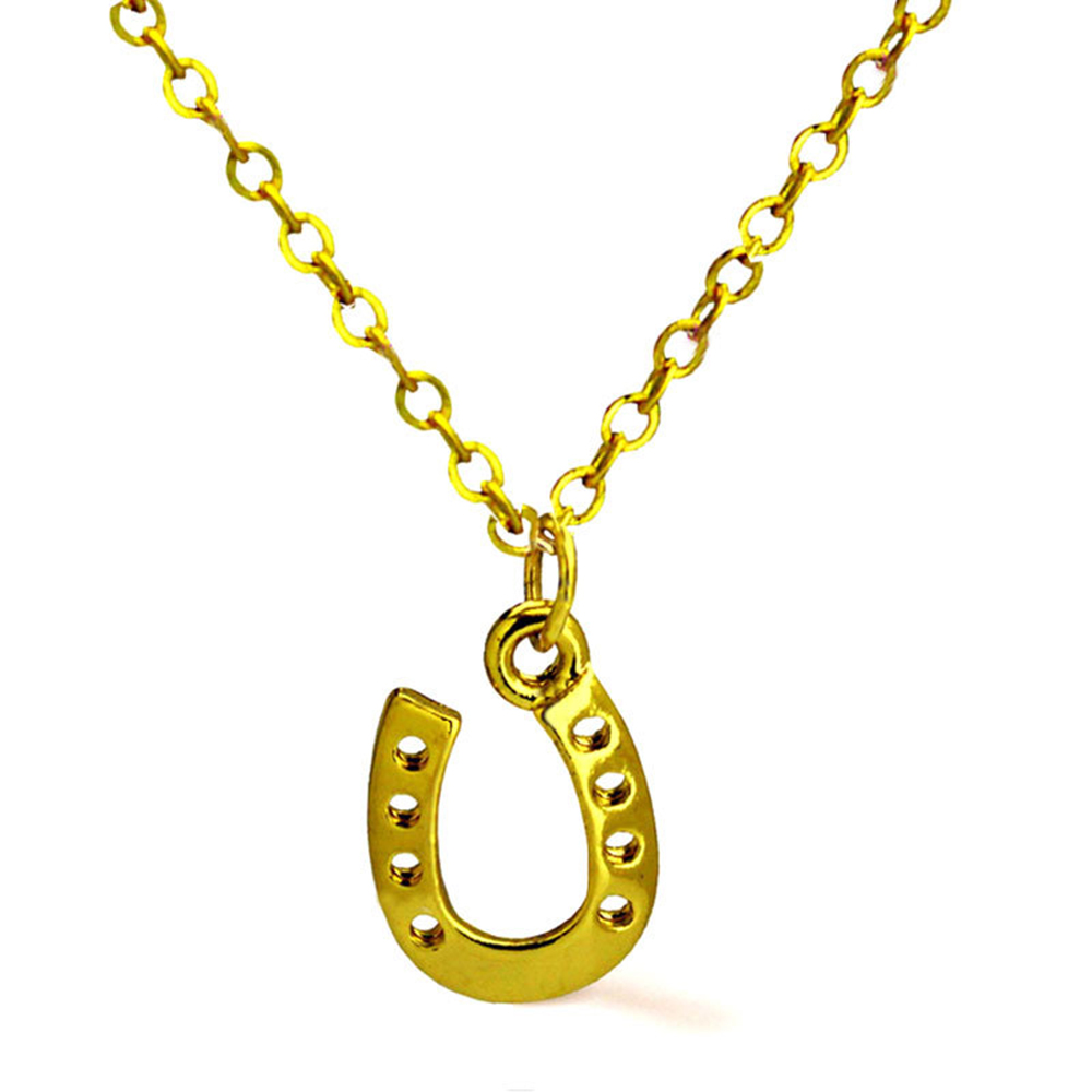 Horseshoe pendant Marine gold-plated necklace