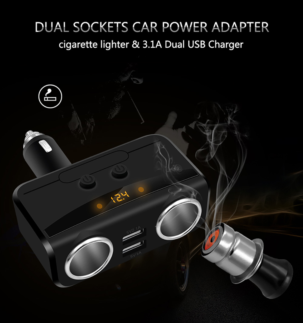 Modern Style Car Charger Cigarette Lighter Dual Usb Adapter Wiring Schematic Intelligent Fast Charging Head