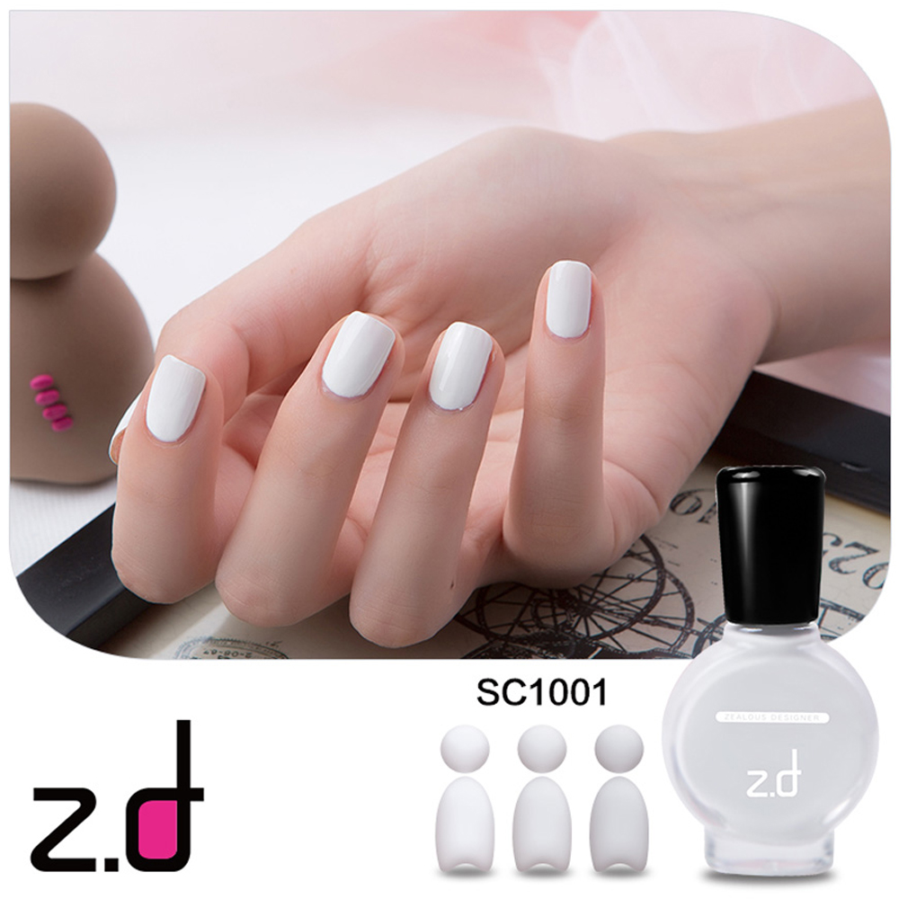 ZD SC1001 15ml Environmentally Friendly Peel Off Nail Polish White ...