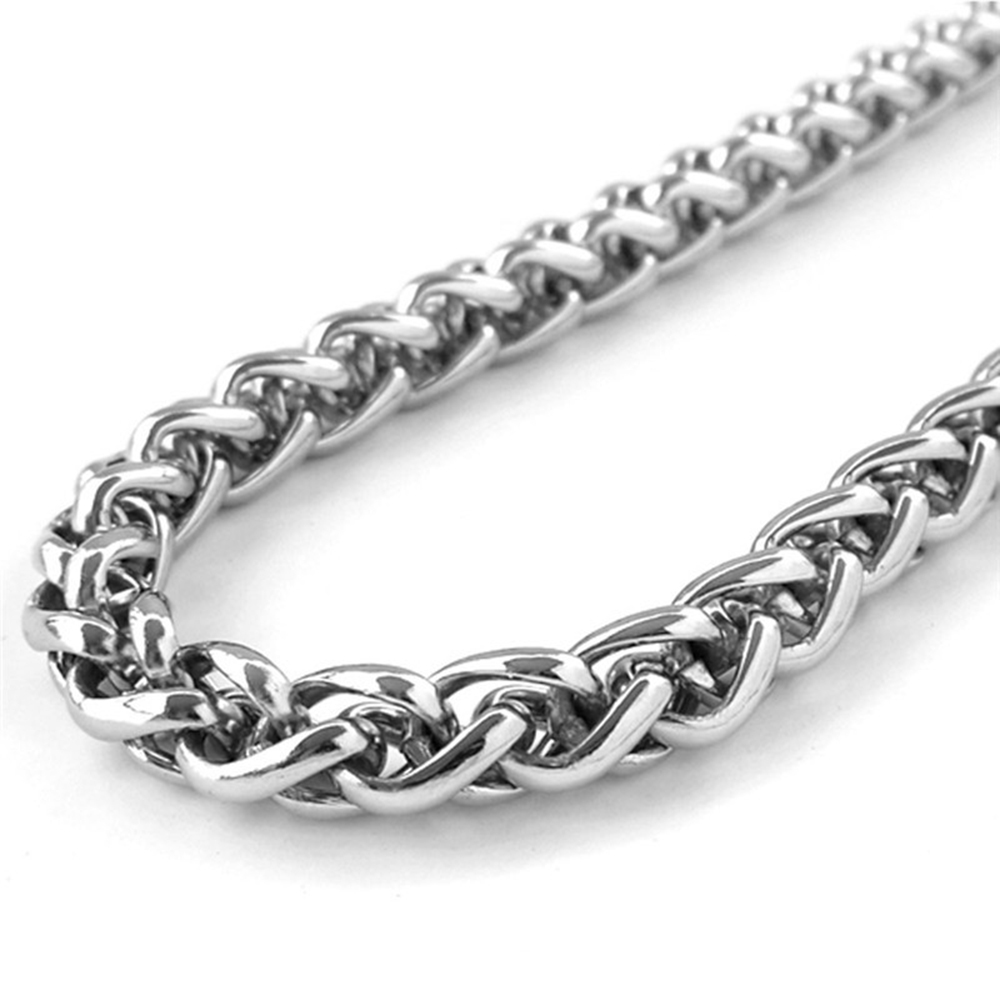 Fashion Round Rope Braid Chain Necklace Mens Jewelry