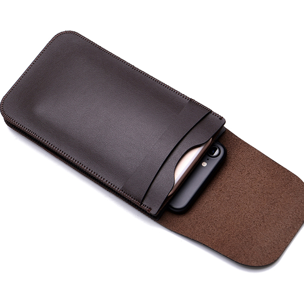 the latest 34d79 b4dc7 Charmsunsleeve For Xiaomi Mi Max 6.44 inch Double Pocket Phone Bag  Microfiber Leather Pouch Sleeve Waist Cover