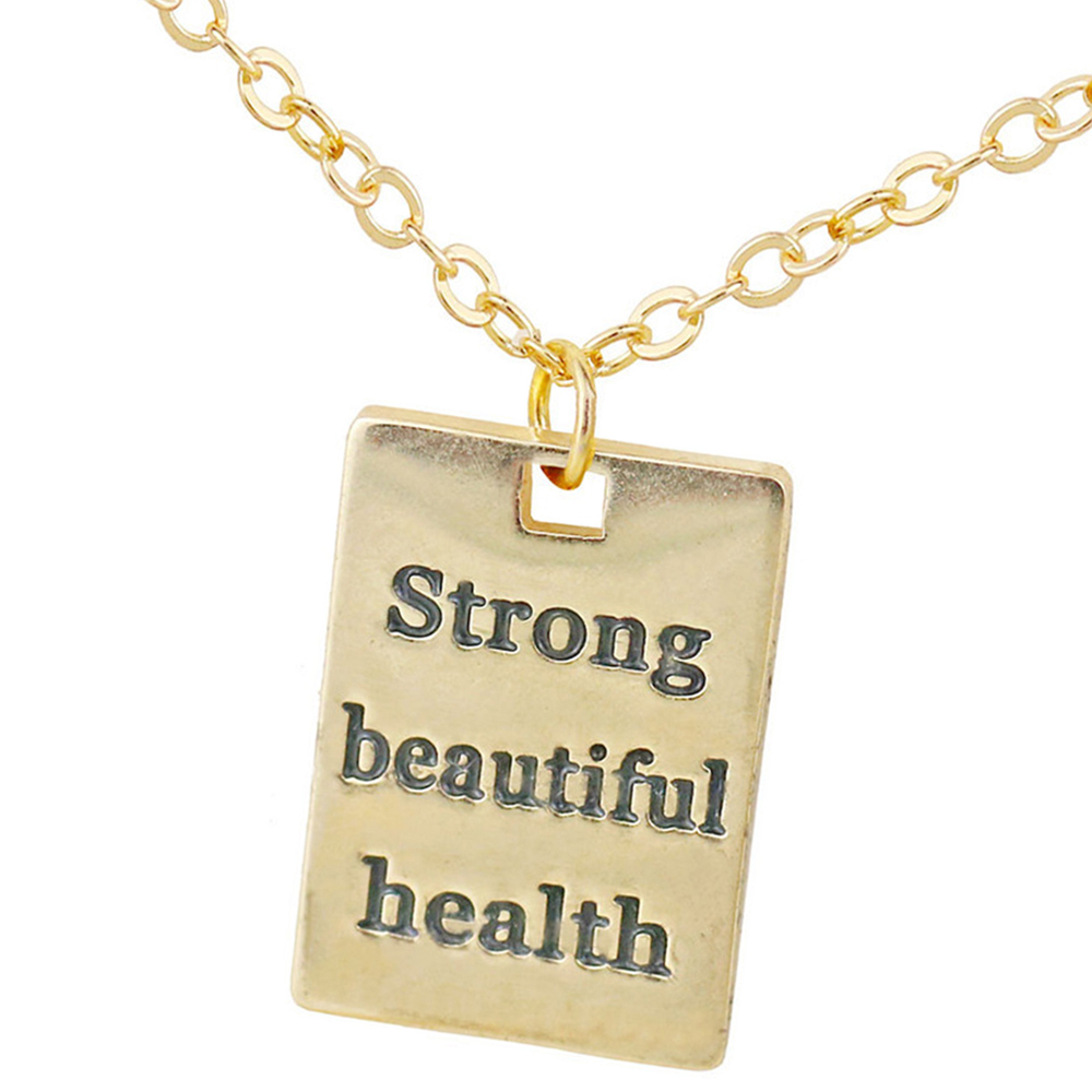Round Dog Tag Strong Beautiful Health Pendant Necklace