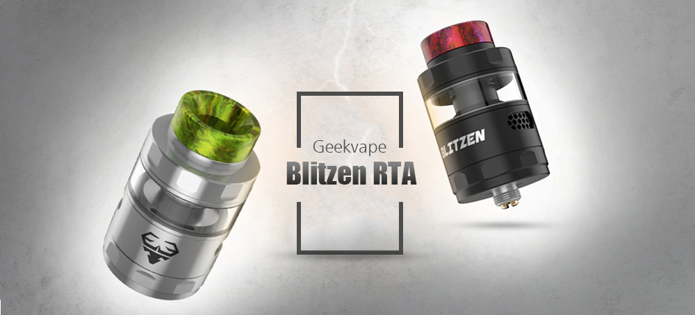 Geekvape Blitzen RTA with 2 / 5ml Standard Edition for E Cigarette- Silver
