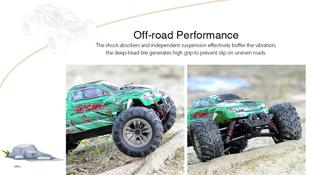 XINLEHONG TOYS 9130 1:16 Brushed Off-road RC Car RTR 4WD 32km/h Fast Speed - Green