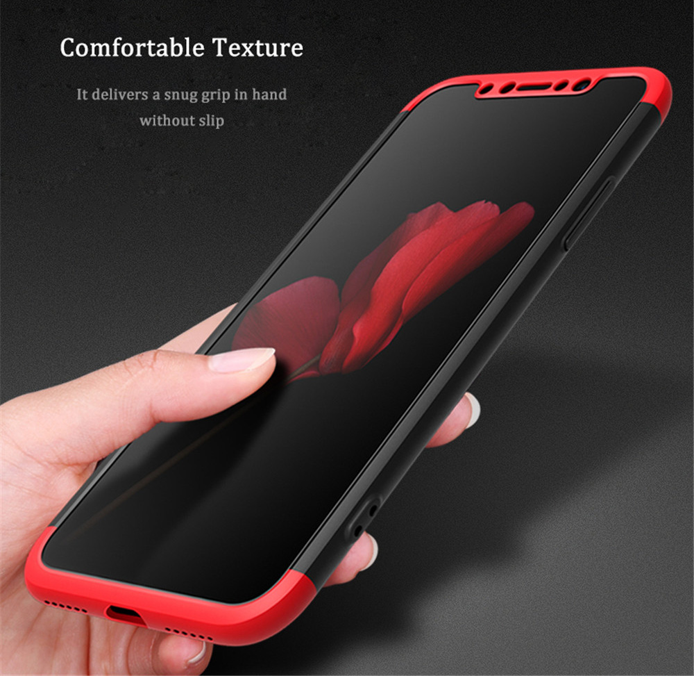 Solid Color Separable Design Cover Case for iPhone X