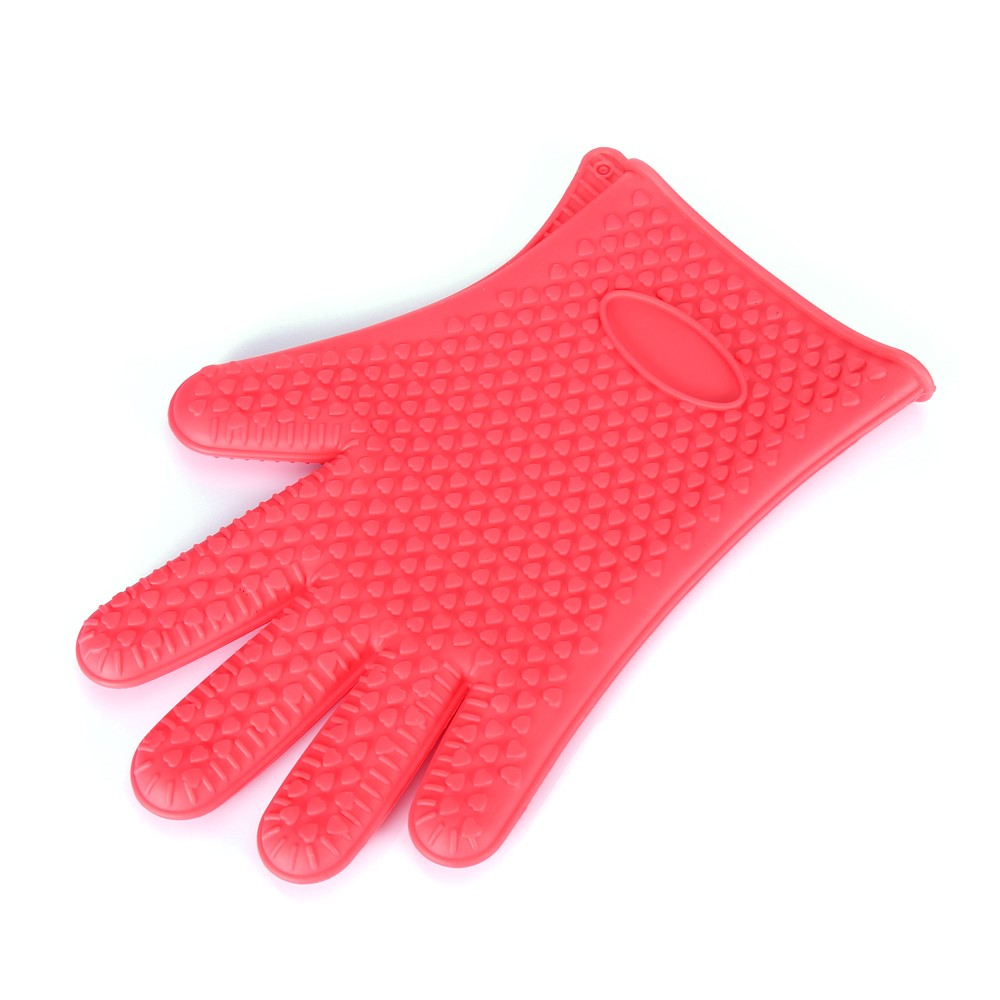 Silicone Heat Resistant Microwave Glove Baking Potholder- Red