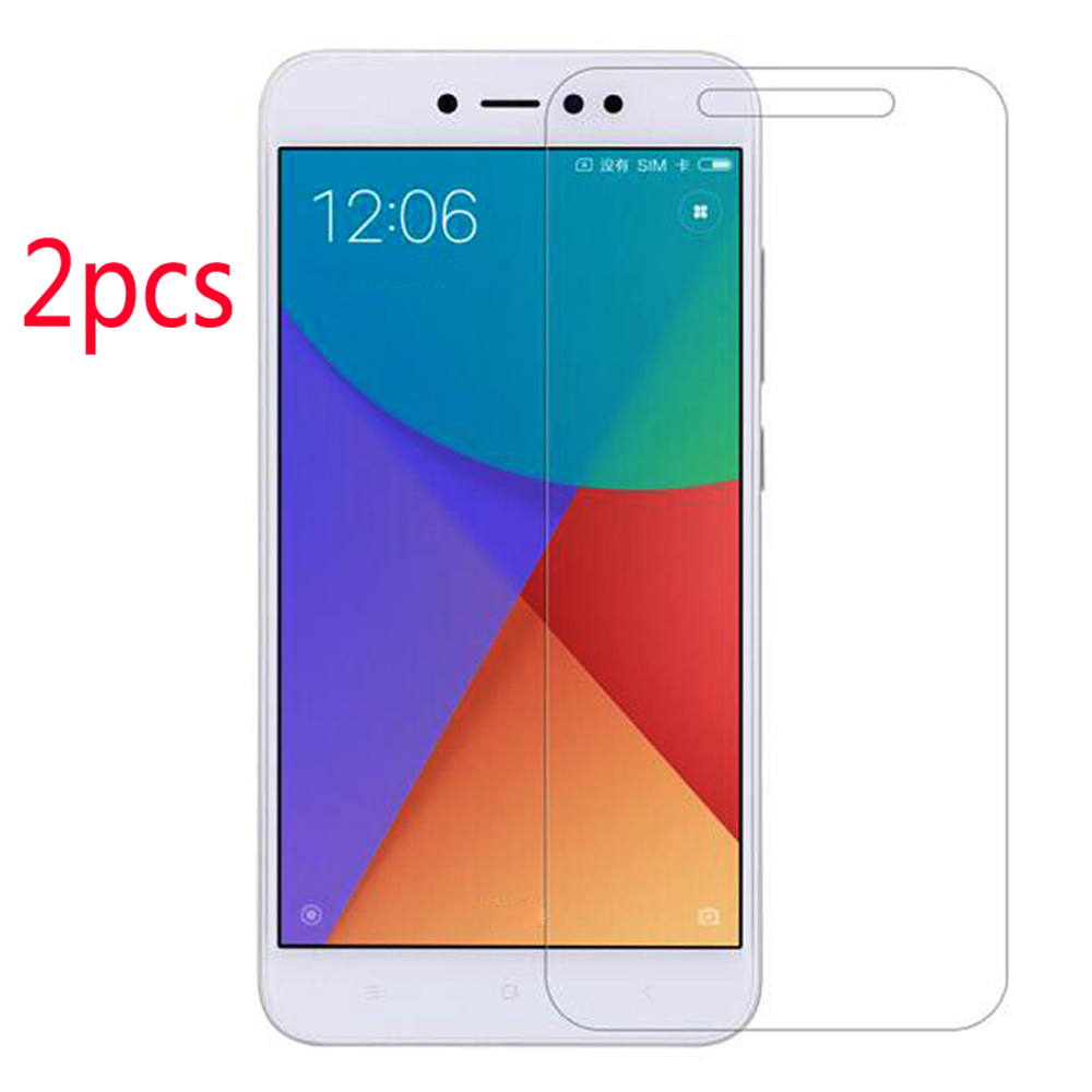 2 Pack High Definition Tempered Glass Screen Protector Anti Glare Anti Fingerprint for Xiaomi Redmi Note 5 A