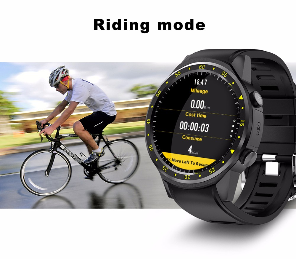 TenFifteen F1 Sports Smartwatch Phone 1.3 inch MTK2503 Dual Bluetooth GPS Beidou Camera Heart Rate / Sleep Monitor