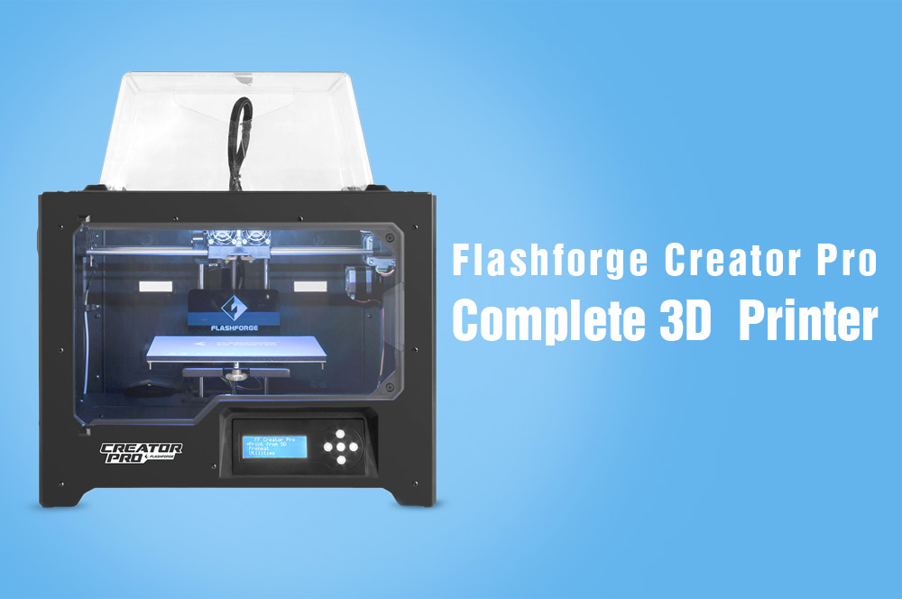 Flashforge Creator Pro Double Extruders Complete 3D Printer