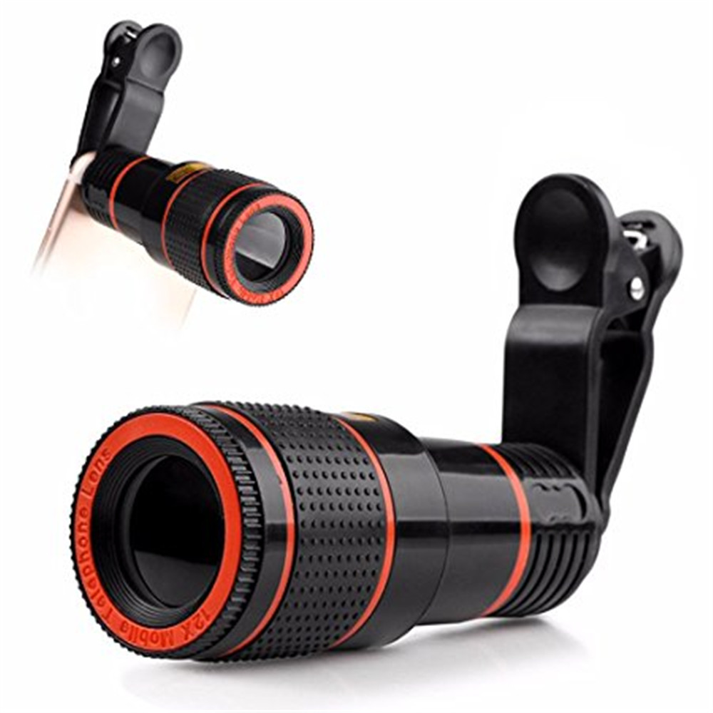 Universal 8X Optical Zoom Telescope Camera Lens Clip Mobile Phone Telescope for Xiaomi / Huawei /