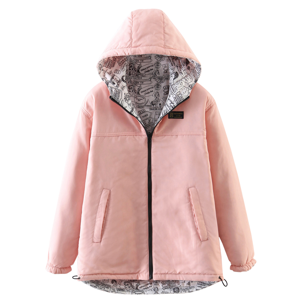 Women's Quilted Coat Hooded Zipper All Match Comfy Hooded Outerwear