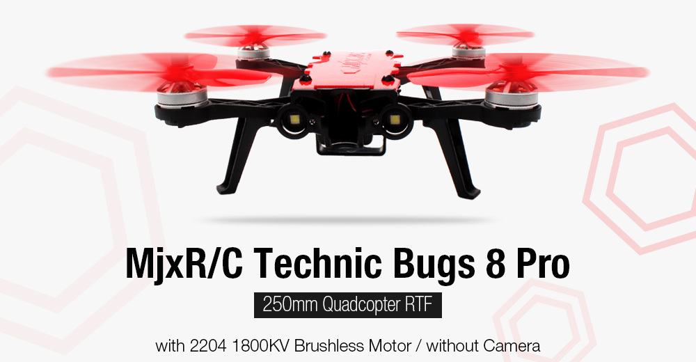 MjxR / C Technic Bugs 8 Pro 250mm Quadcopter RTF 2204 1800KV Brushless Motor / without Camera - Red