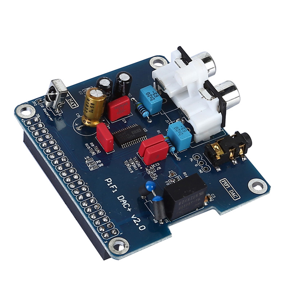 PIFI Digi DAC+HIFI DAC Audio Sound Card Module I2S Interface for Raspberry  Pi 3 2 Model B B+Digital Pinboard V2 0 Board