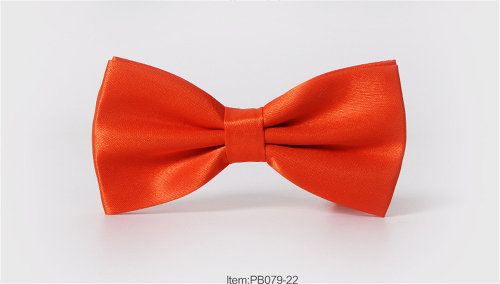 Polyester Silk Solid Color Bow Tie